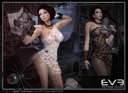 EVE-spider-web dress