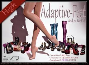 EVE Adaptive-feet affiche high