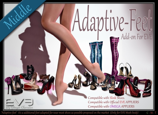 EVE Adaptive-feet affiche Middle