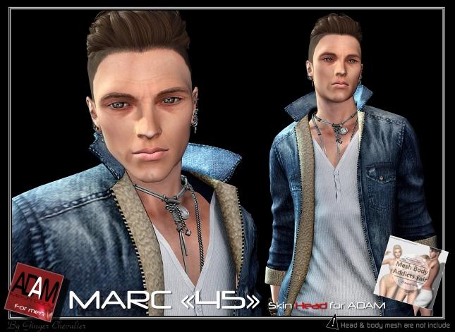 ADAM SKIN Marc 45 head-