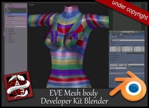Eve Adam Mesh Body Avatar Bento For Second Life