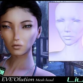 https://marketplace.secondlife.com/p/EVEOlution-Liu-Mesh-head-BOM-wear-to-unpack/18409417